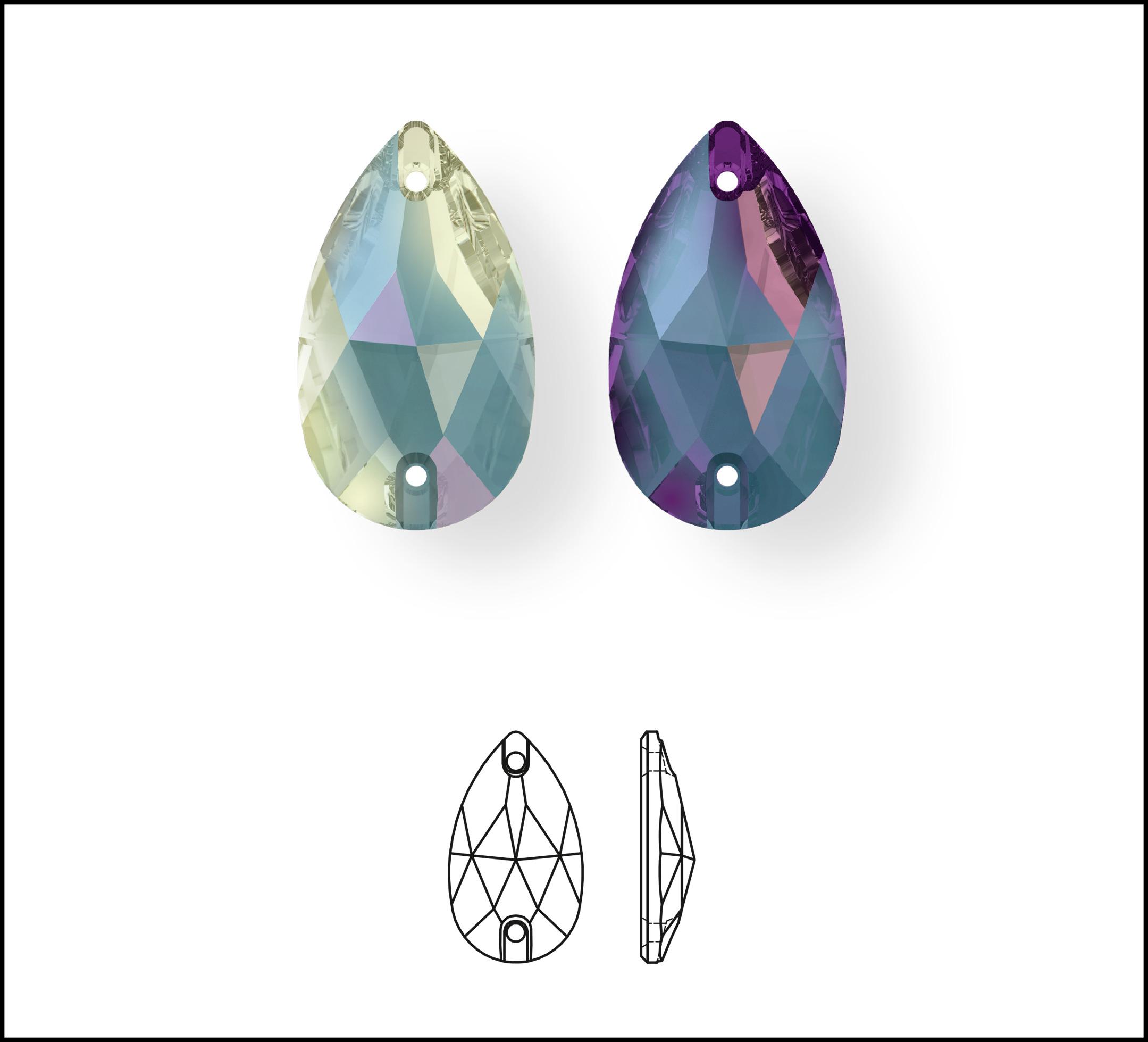 Swarovski_Crystal_ 3230_Nevette_Sew_On_Stone_ New_Crystal_DeLight_Effect