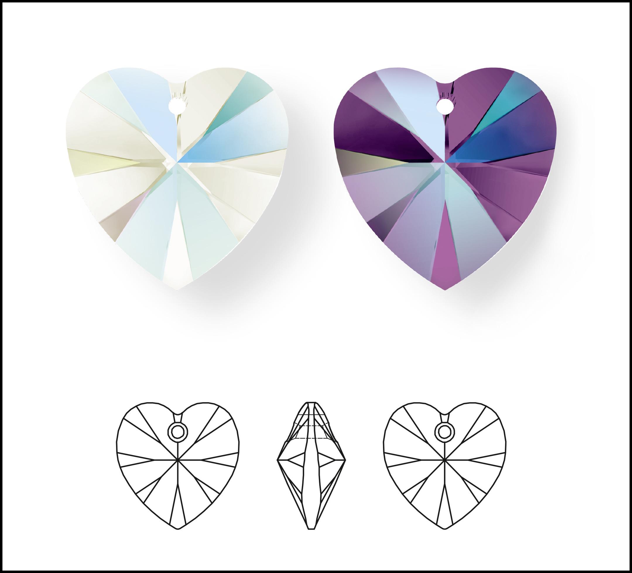 Swarovski_Crystal_ 6228_Heart_Pendants_ New_Crystal_DeLight_Effect