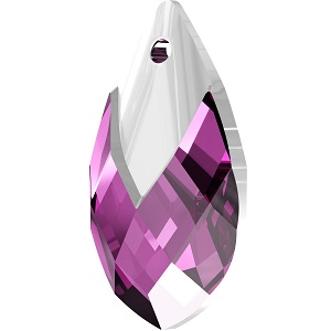 Swarovski_Crystal_ 6565_Metallic_Cap_Pear-shaped_Pendant_ Amethyst_with_Crystal_Light_Chrome_Cap_trends
