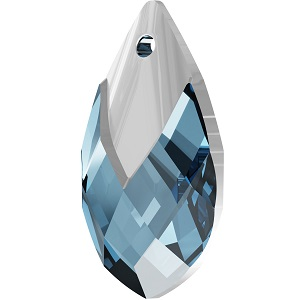 Swarovski_Crystal_ 6565_Metallic_Cap_Pear-shaped_Pendant_ Aquamarine_with_Crystal_Light_Chrome_Cap_jewelry_trends