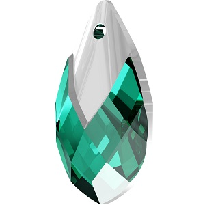Swarovski_Crystal_ 6565_Metallic_Cap_Pear-shaped_Pendant_ Emerald_with_Crystal_Light_Chrome_Cap_jewelry_trends