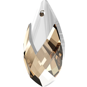 Swarovski_Crystal_ 6565_Metallic_Cap_Pear-shaped_Pendant_ Light_Colorado_Topaz_with_Crystal_Light_Chrome_Cap_Fashion_trends