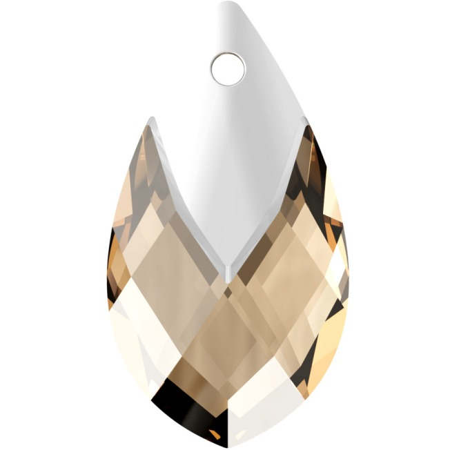 Swarovski_Crystal_ 6565_Metallic_Cap_Pear-shaped_Pendant_ Light_Colorado_Topaz_with_Crystal_on_Sale_Light_Chrome_Cap