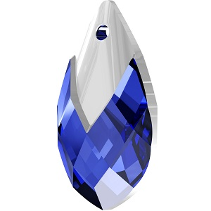 Swarovski_Crystal_ 6565_Metallic_Cap_Pear-shaped_Pendant_ Majestic_Blue_with_Crystal_Light_Chrome_Cap_jewelry_trends