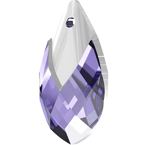 Swarovski_Crystal_ 6565_Metallic_Cap_Pear-shaped_Pendant_ Tanzanite_with_Crystal_Light_Chrome_Cap_jewelry_trends