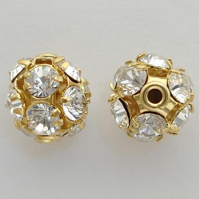 5830 Gold Swarovski Crystal Pave Balls