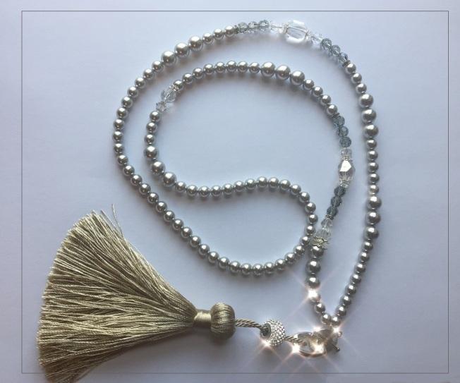 9010cbb42 Learn how to make Swarovski crystal necklace | Harmony's Rainbow