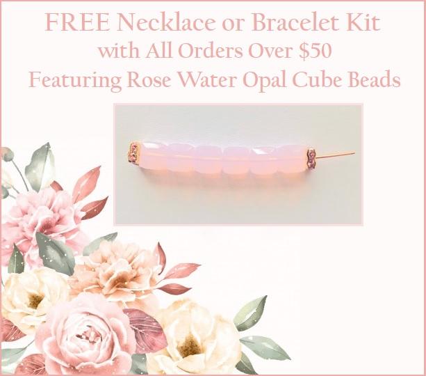 Free Swarovski Crystal Rose Water Opal Necklace or Bracelet Kit