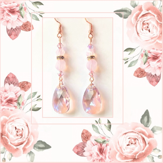 Swarovski Crystal Earring Kit Rose Water Opal and Light Amethyst Shimmer on Sale shop now